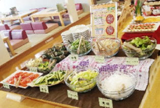 平日限定京都野菜ランチバイキング 大人1,350円 小学生990円